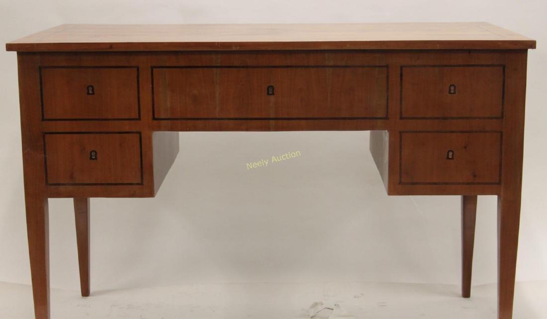 MCM Italian Inlay Top & Fruitwood Writing Desk - 5