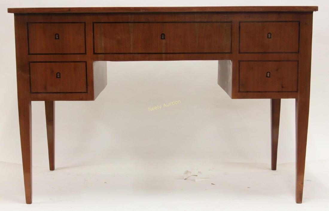 MCM Italian Inlay Top & Fruitwood Writing Desk - 6