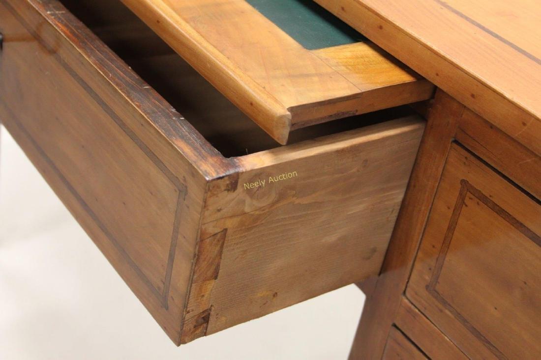 MCM Italian Inlay Top & Fruitwood Writing Desk - 7