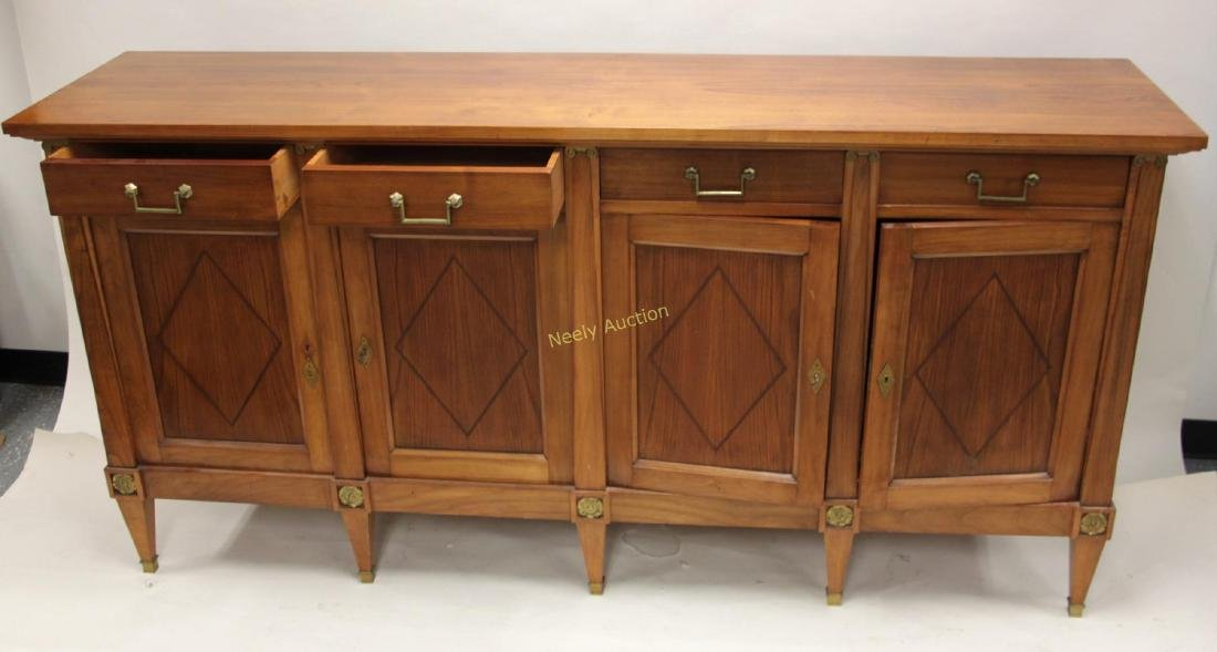 Italian Sideboard / Buffet w 4- Drawers & Doors - 4