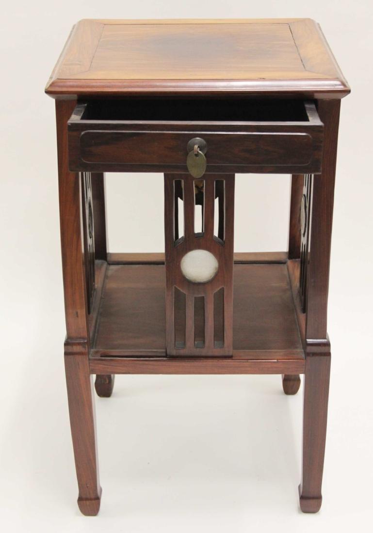 Arts & Crafts Oriental Teak Occasional Table