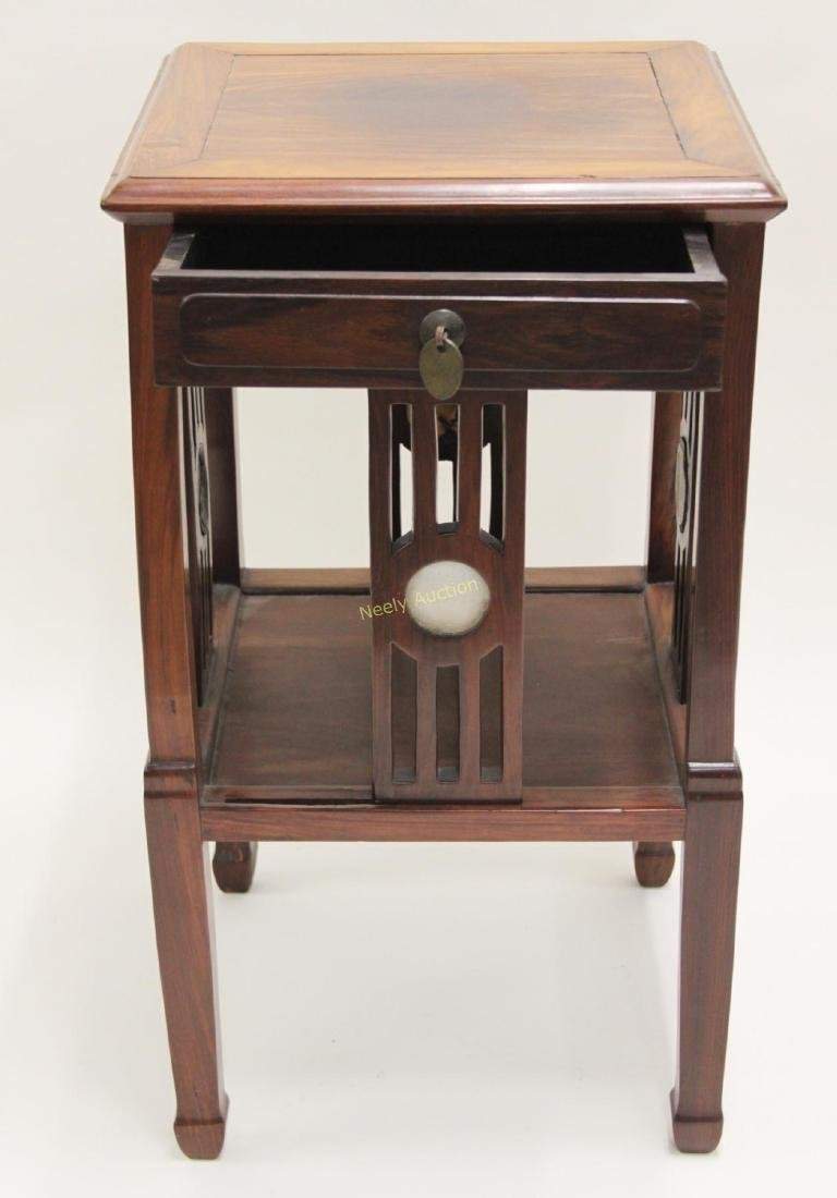 Arts & Crafts Oriental Teak Occasional Table - 4