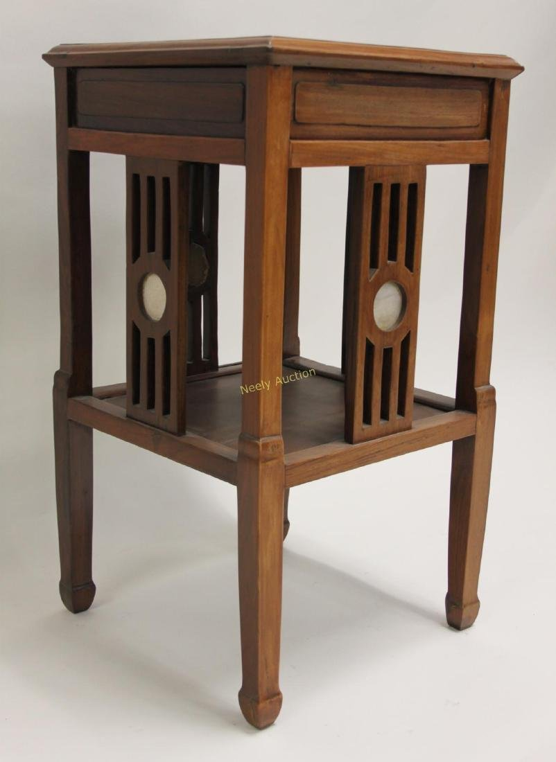 Arts & Crafts Oriental Teak Occasional Table - 8