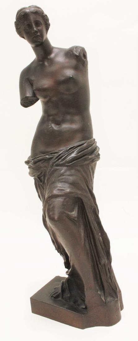 19c Musee de Louvre Bronze Sculpture Venus de Milo