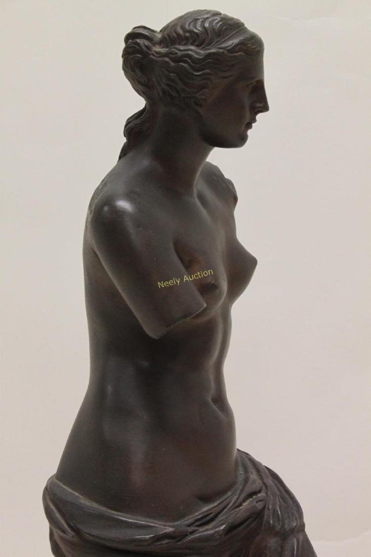 19c Musee de Louvre Bronze Sculpture Venus de Milo - 4