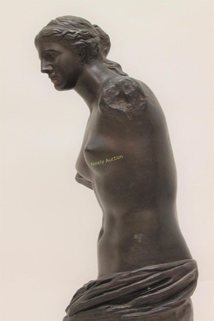 19c Musee de Louvre Bronze Sculpture Venus de Milo - 8