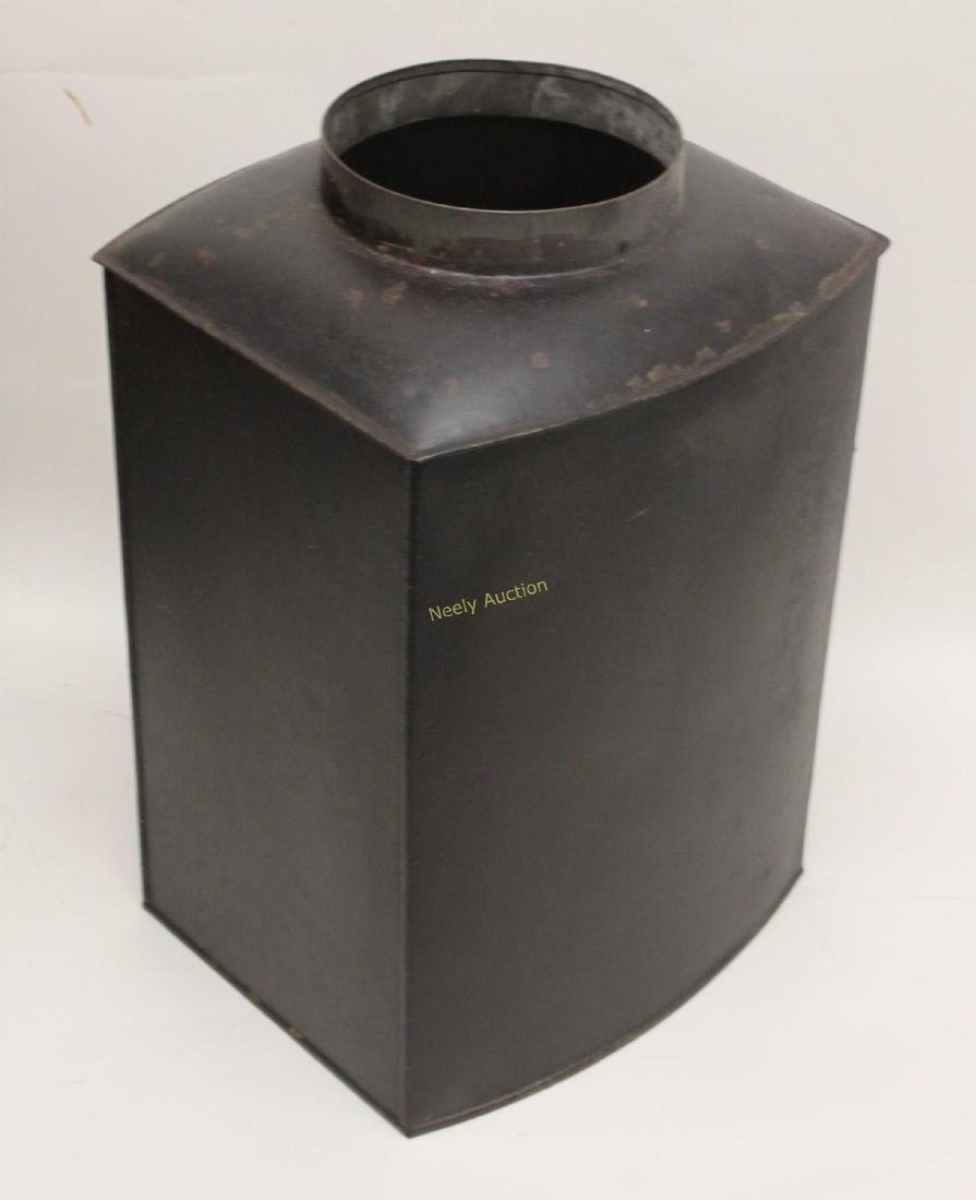 Antique Tin Tea Box & Tole Ware Fireplace Wood Box - 5