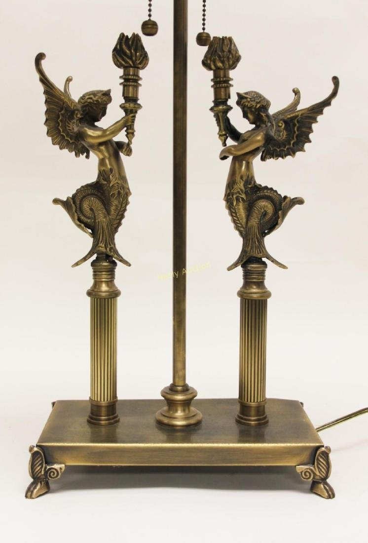 Pair Oriental Accent Inc. French Empire Desk Lamps - 6