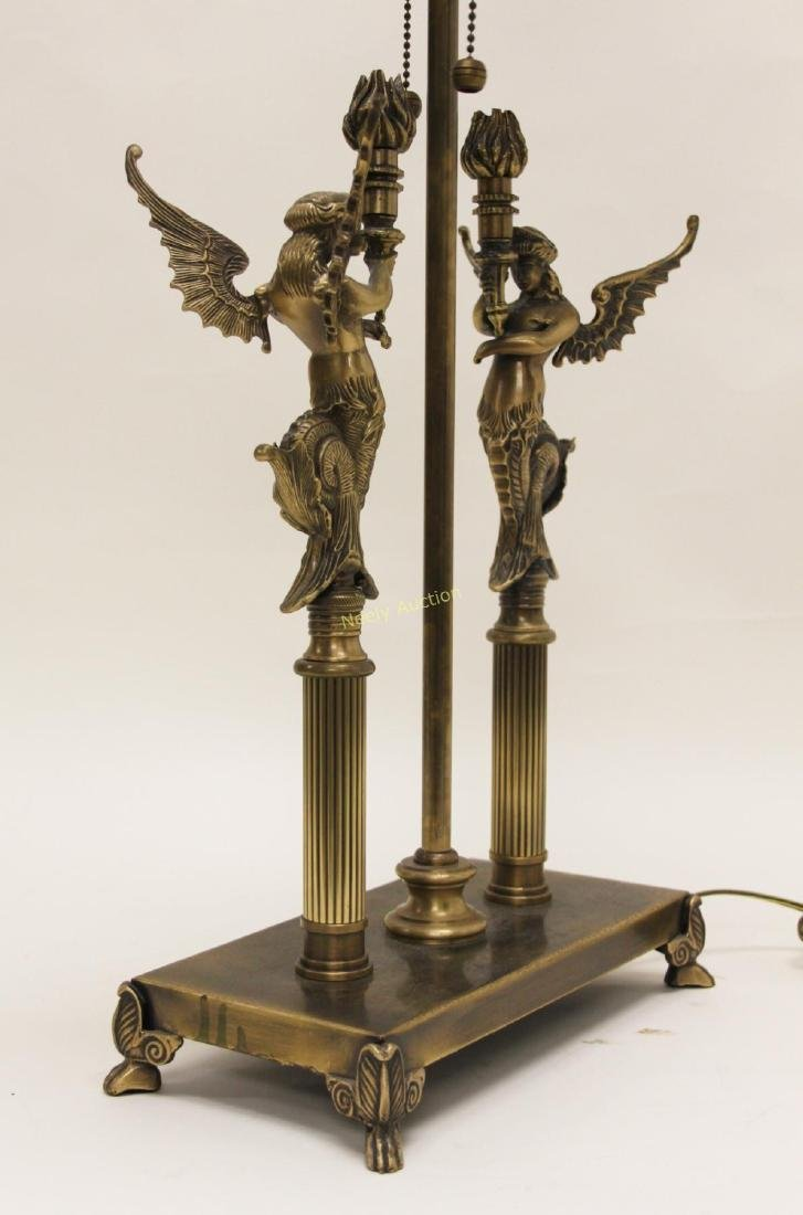 Pair Oriental Accent Inc. French Empire Desk Lamps - 7