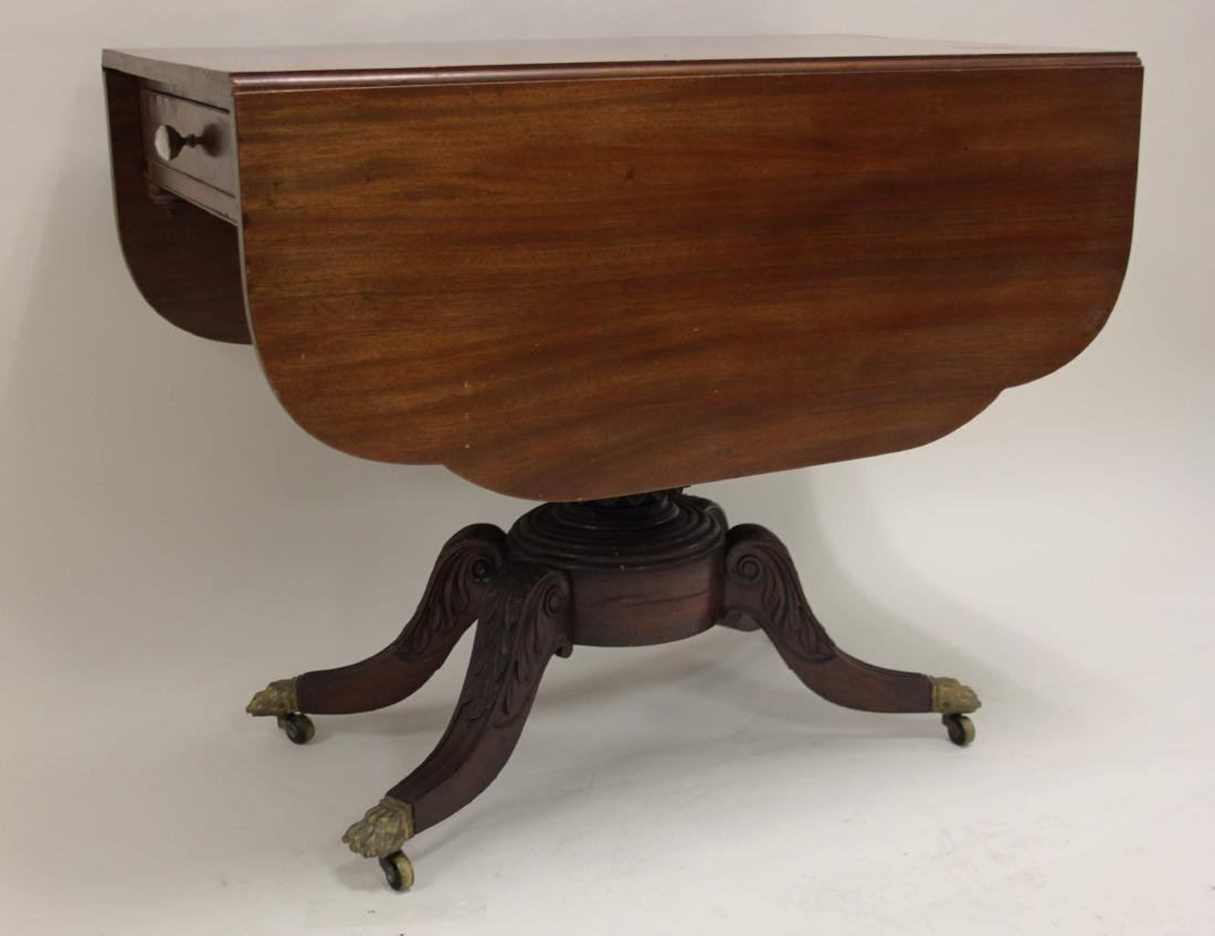 19c Empire Drop Leaf Breakfast or Library Table