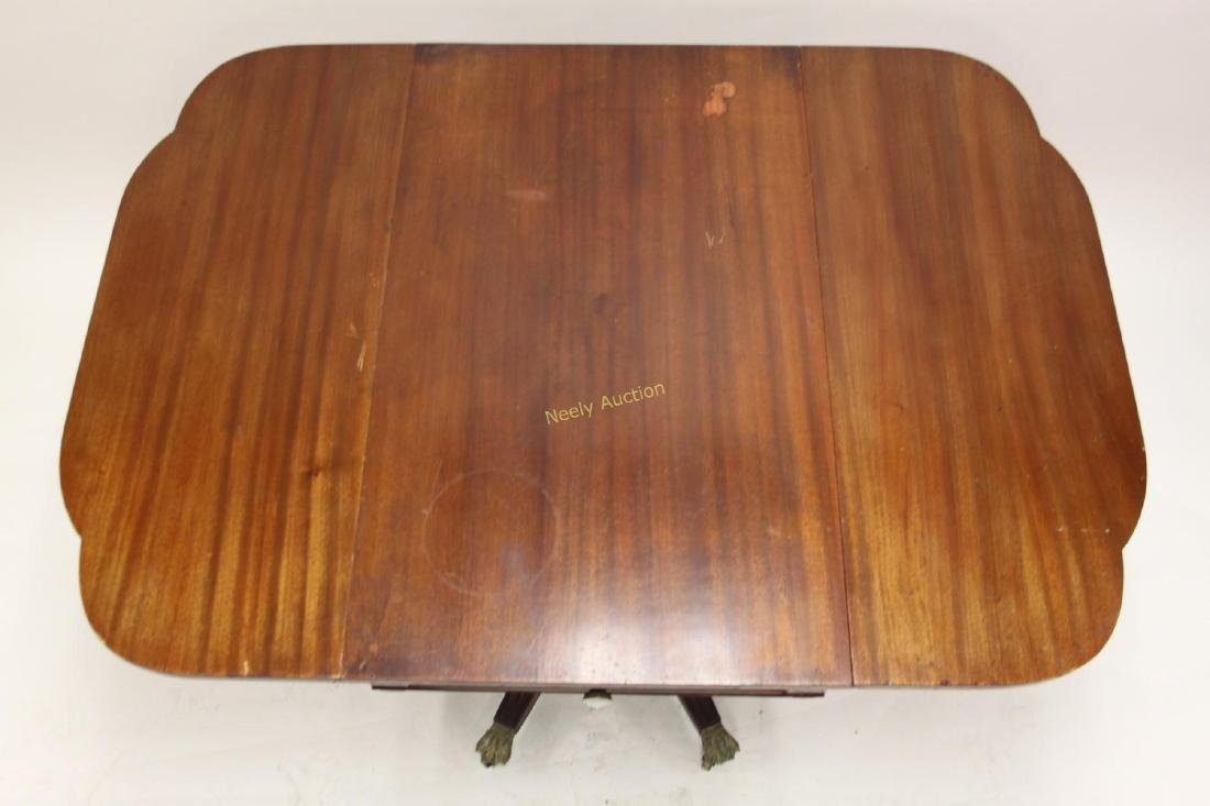 19c Empire Drop Leaf Breakfast or Library Table - 3
