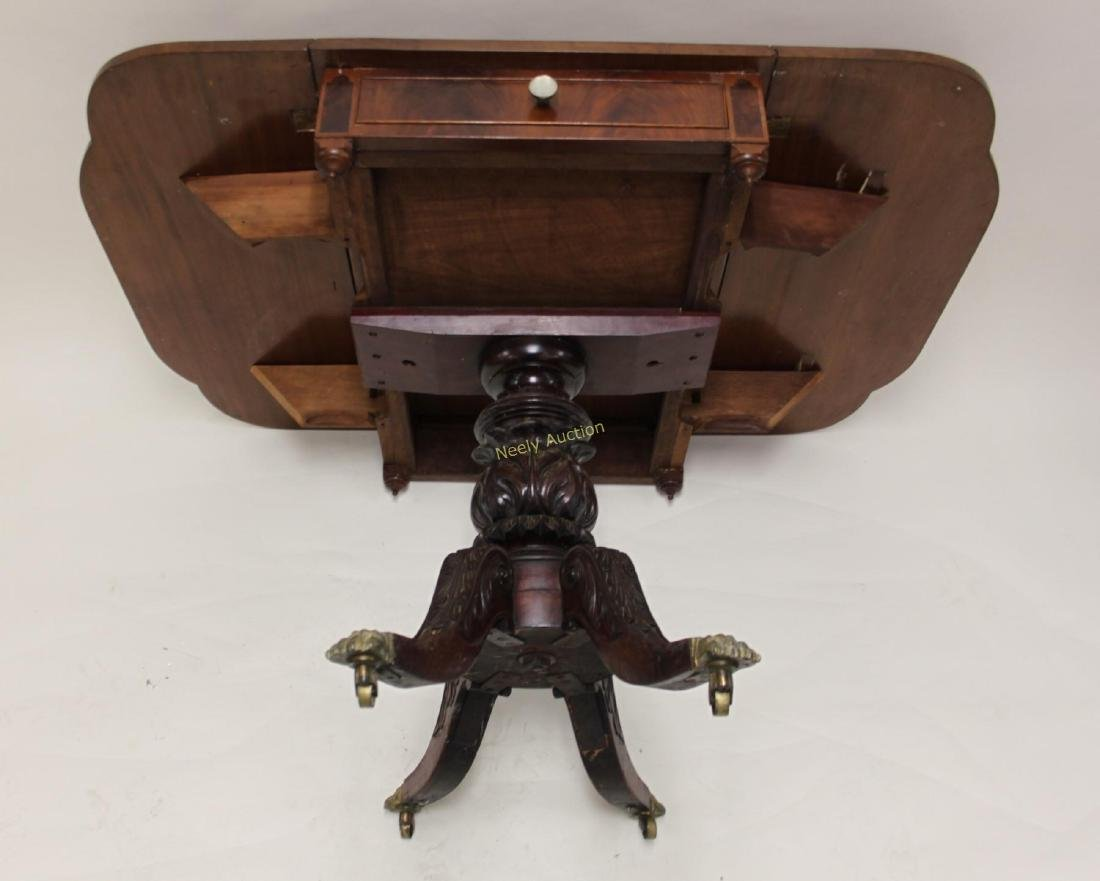 19c Empire Drop Leaf Breakfast or Library Table - 4