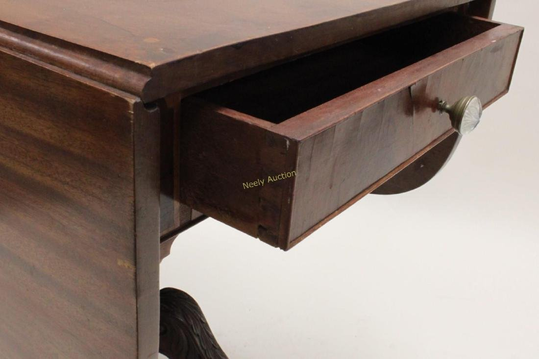 19c Empire Drop Leaf Breakfast or Library Table - 5