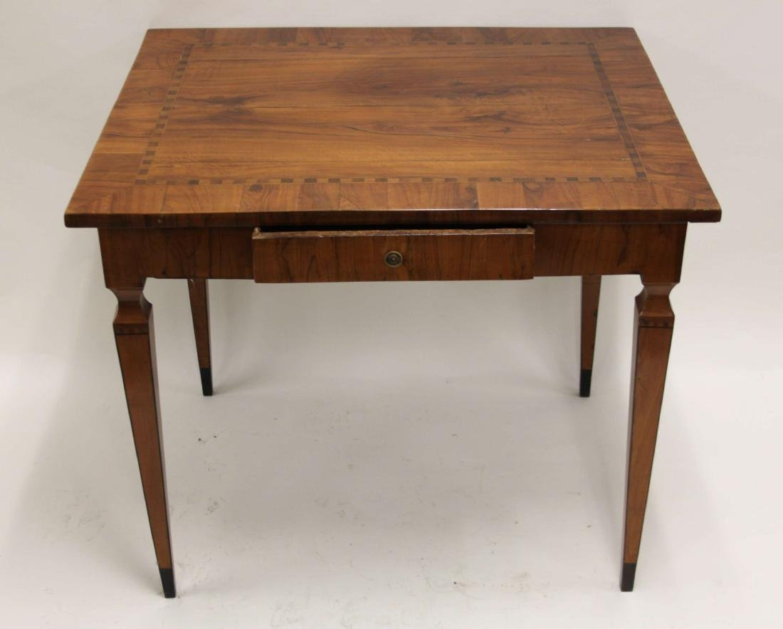 Antique Italian Inlaid Satinwood Game Table