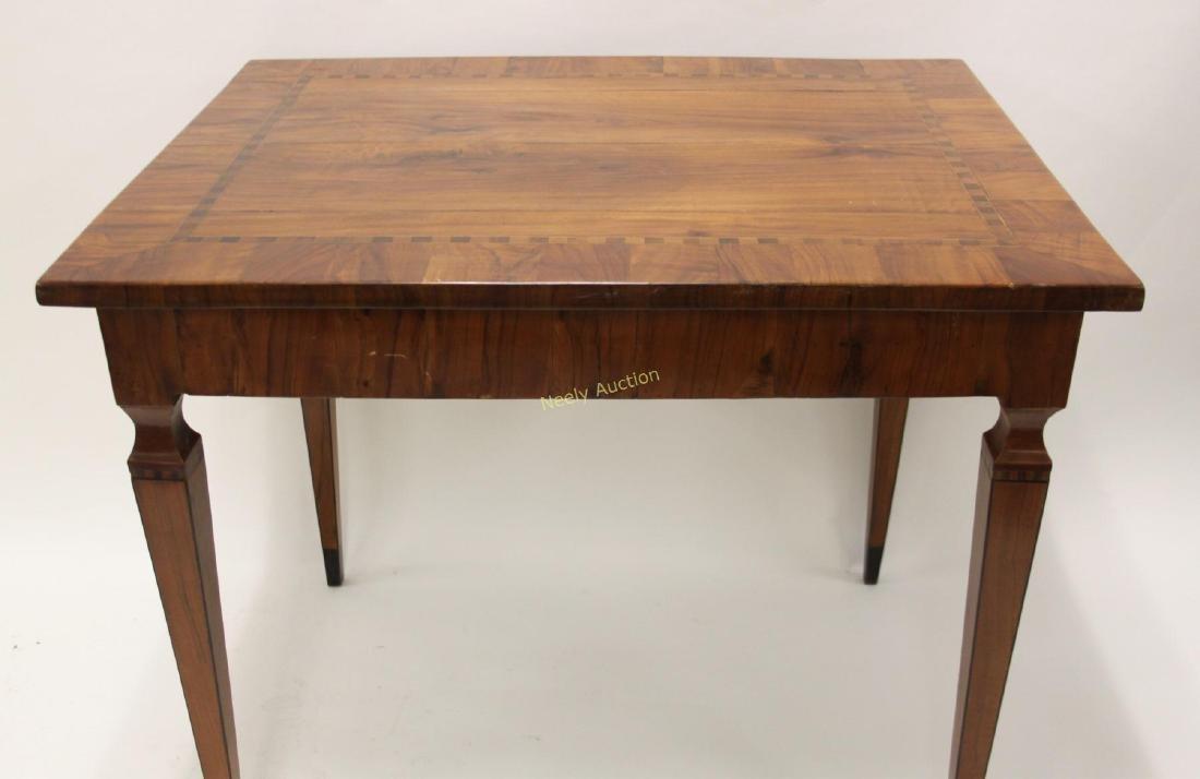 Antique Italian Inlaid Satinwood Game Table - 2