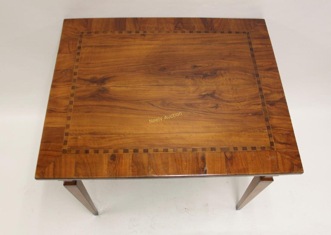 Antique Italian Inlaid Satinwood Game Table - 3