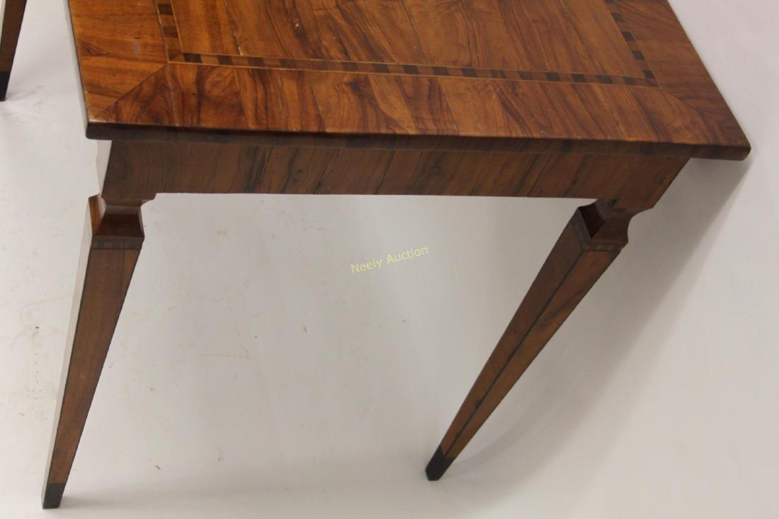 Antique Italian Inlaid Satinwood Game Table - 4