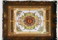 Castilian Bronze Frame & Glazed Porcelain Tray