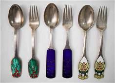 3Sets Michelsen Sterling Christmas Spoon  Fork