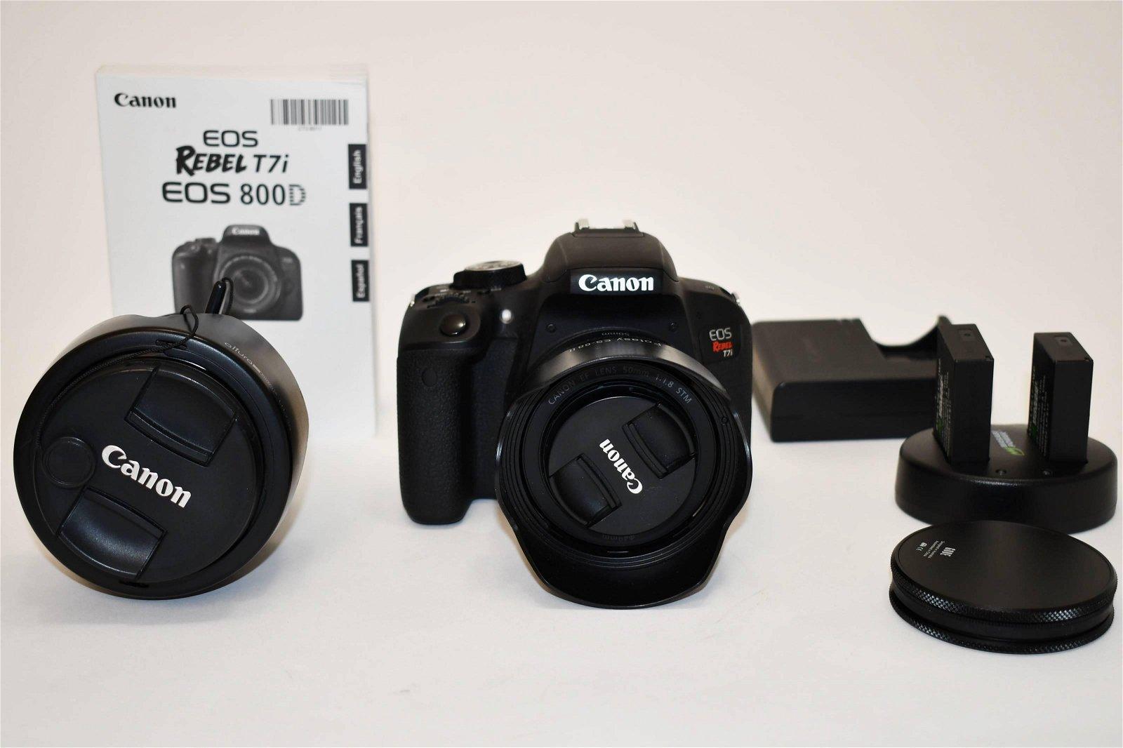 Canon EOS 800D T7i Camera & Lenses