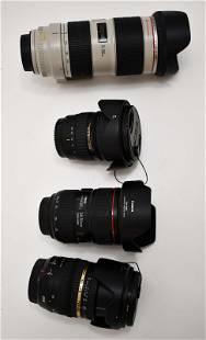(4) Canon Lenses for Mark IV D Camera Body