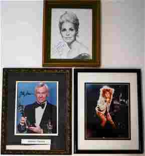 3Autographs Johnny Carson, Janet Leigh & Tina Turner