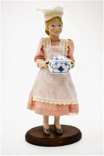 Bing & Grondhal Female Chef Doll w Bakers Costume