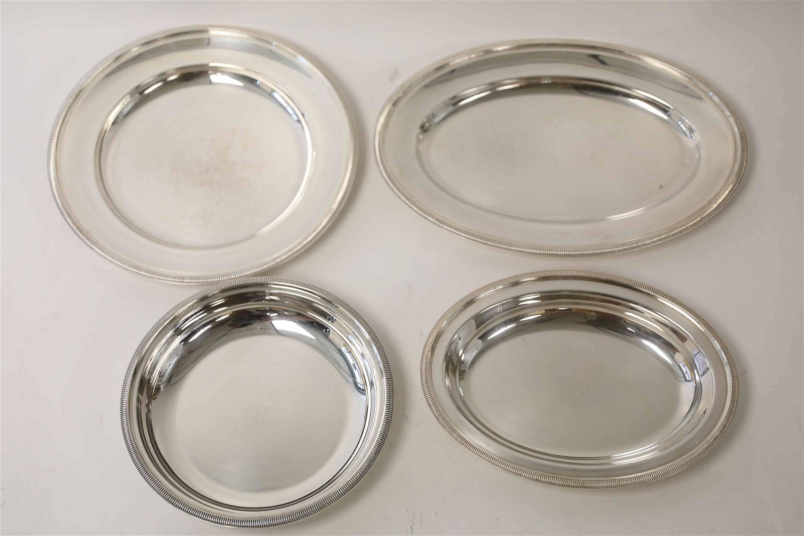 (4) Christofle Hollow ware Serving Dishes & Trays