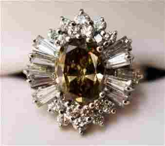 2.5 Carat Chocolate Diamond Ring Sputnik Enhancer