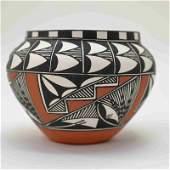 R Keene Acoma Native American Indian Pottery Jar