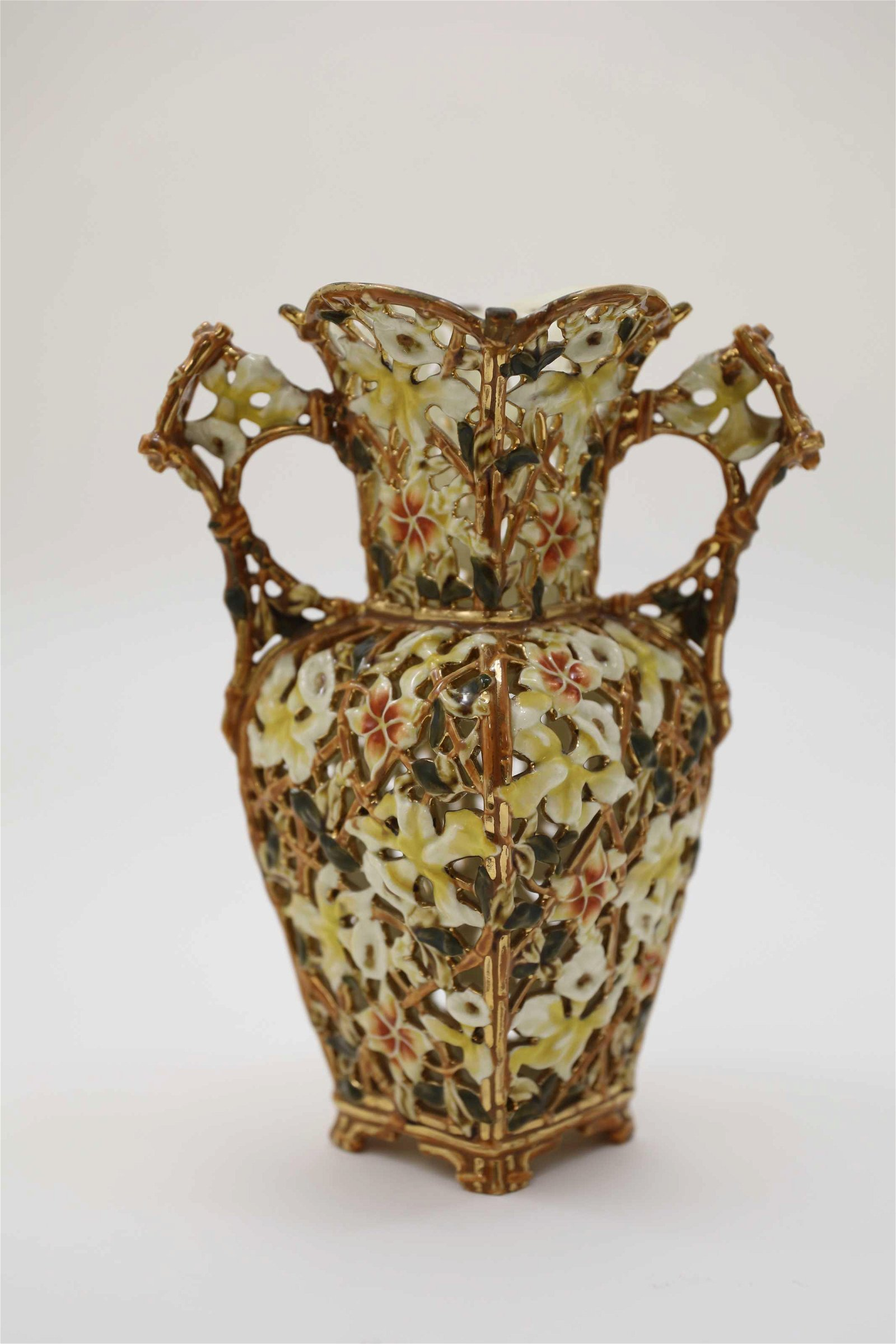 Large 19th Century Zolnay Hungarian Pottery Vase
