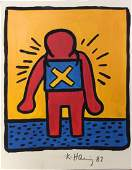 Keith Haring Attr Acrylic Painting