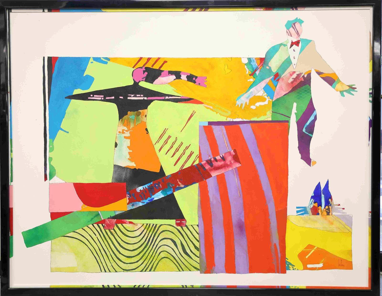 Gino Hollander (1924- 2015) XXL Pop Art Painting
