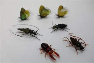 (5) Vittorio Costantini (2) Fleming Art Glass Bugs
