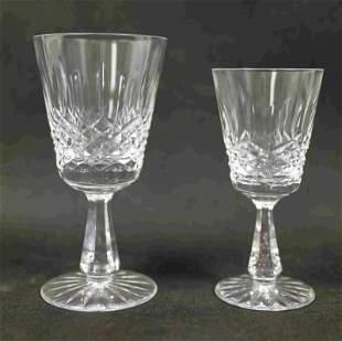(21) Waterford Goblets, Wine Hocks
