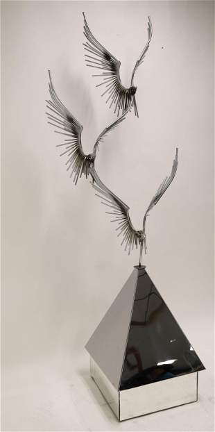 "MCM Curtis Jere Floor Sculpture ""Birds in Flight"""