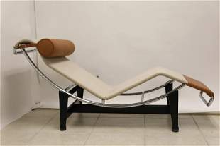 Le Corbusier Chaise Lounge Chair & Foot Stool