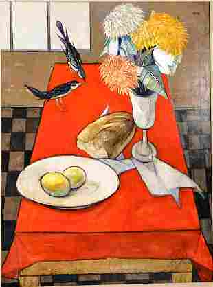 Charles Levier French1920-2003 Still Life Painting