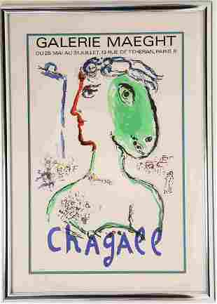Marc Chagall Exhibition Poster for Galerie Maeght