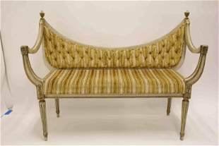 Hollywood Regency Louis XVI Hall Bench