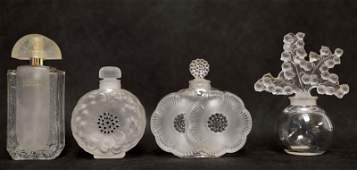 (4) Lalique France Perfume Bottles