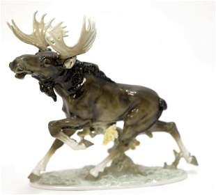Hutschenreuther Porcelain Moose Sculpture