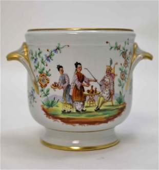 Vintage Cartier Le Tallec Limoges Porcelain Pot
