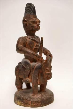 Yorba Nigeria African Sculpture Man on Horseback