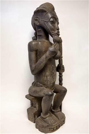 Baule Blolo Bian Figure, African Tribal Sculpture