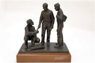 Joseph Kinkel WPA Bronze Sculpture Metal Workers