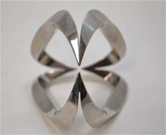 Israel Hadany b1941 Interlocking Chrome Sculpture