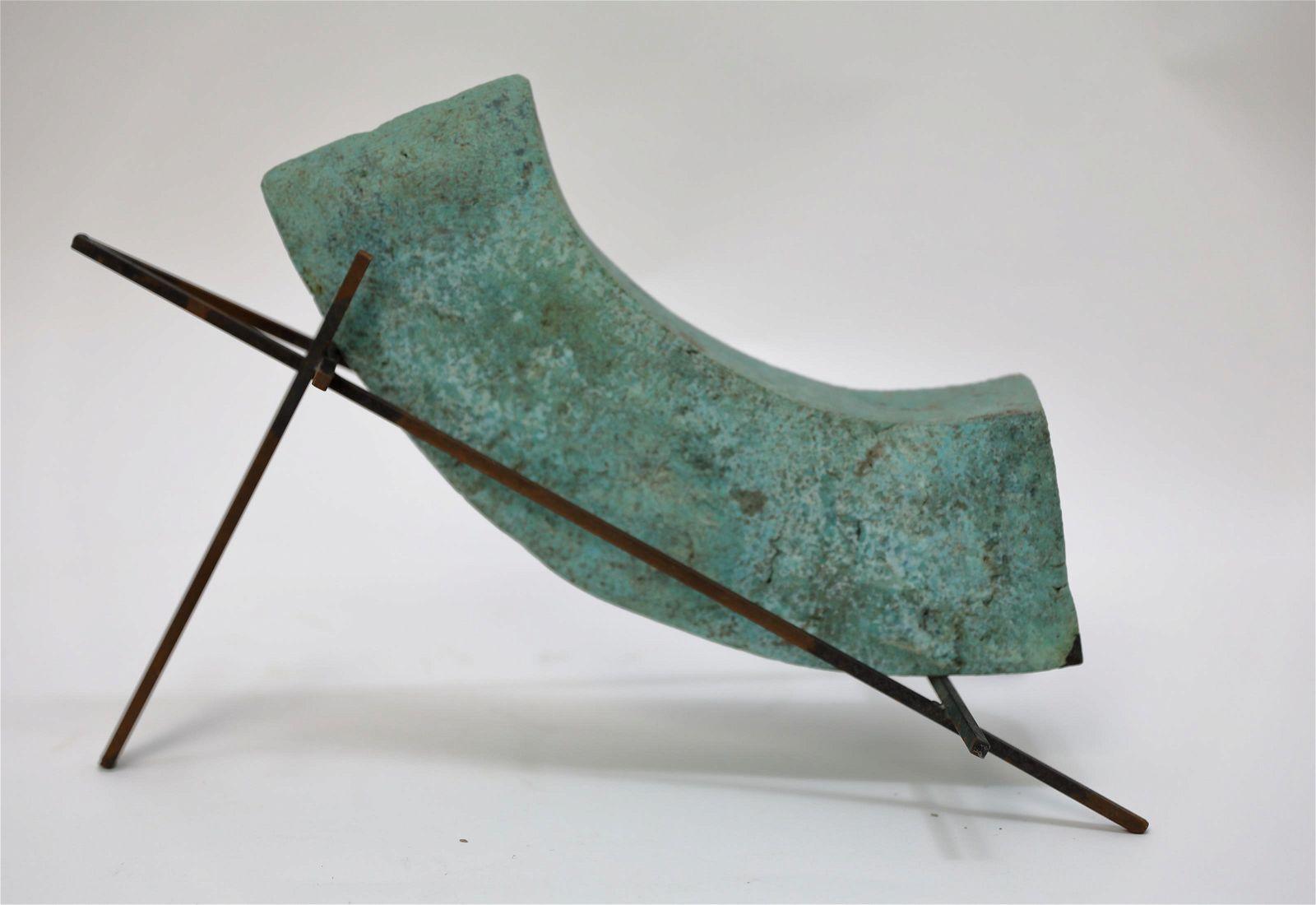Tony Bloom Ceramic & Metal Modernist Sculpture