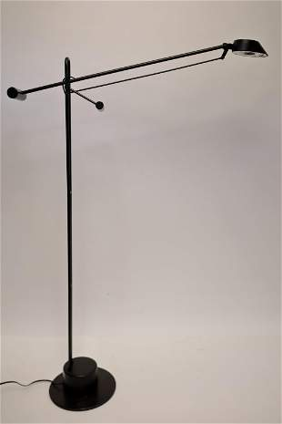 Vintage Italian Floor Lamp w Articulated Arm