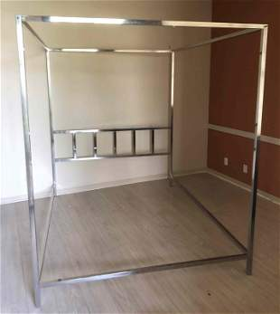 MCM Pace Chrome Frame Canopy Bed